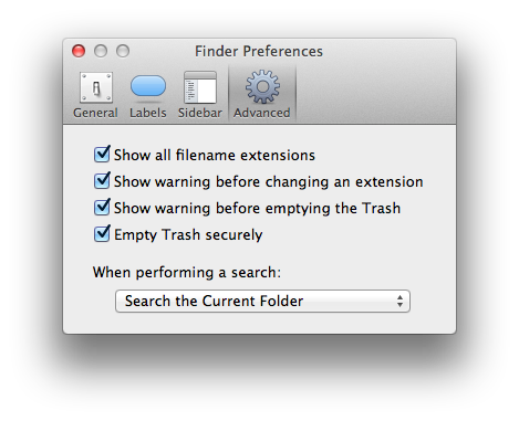Finder Advanced Preferences